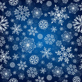 Snowflake vector seamless pattern. Stock Image