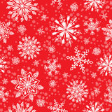Snowflake vector seamless pattern. Stock Images