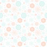 Snowflake vector seamless pattern. Stock Photo