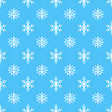 Snowflake vector seamless pattern weather traditional winter december wrapping paper christmas background. Stock Photo