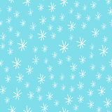Snowflake vector seamless pattern weather traditional winter december wrapping paper christmas background. Royalty Free Stock Photos
