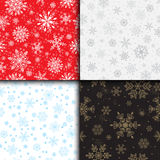 Snowflake vector seamless pattern weather traditional winter december wrapping paper christmas background. Stock Image