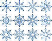 Snowflake Vector Set Royalty Free Stock Image