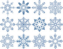 Snowflake Vector Set Stock Photos
