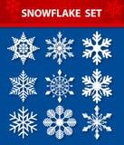 Snowflake Vector Set Royalty Free Stock Photography