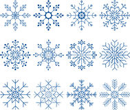 Snowflake Vector Set Royalty Free Stock Images