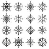 Snowflake vector set. Isolated on white royalty free illustration