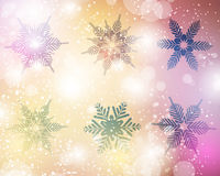 Snowflake Vector Set. A set of snowflake ornaments for winter christmas holiday festive occasions Stock Image