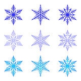 Snowflake: vector set of  snowflakes on white background Royalty Free Stock Images