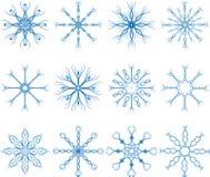 Snowflake Vector Set Stock Photo