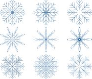 Snowflake Vector Set Stock Photo