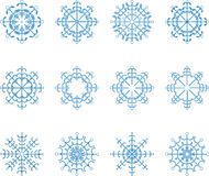 Snowflake Vector Set Royalty Free Stock Photo