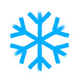 Snowflake vector symbol, christmas snow icon Royalty Free Stock Photography