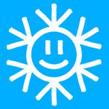 Snowflake vector symbol, christmas snow icon. Blue color Stock Images