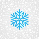 Snowflake vector symbol for decoration. Merry Christmas & Happy New Year background with sparkles, lights. Winter holiday snow. Snowflake vector symbol for Royalty Free Stock Photos