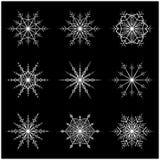Snowflake vector symbol silhouette design. christmas winter icon Royalty Free Stock Image