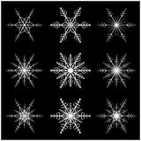 Snowflake vector symbol silhouette design.  Stock Photo