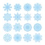 Snowflake vector symbols, christmas snow icons set Royalty Free Stock Photo