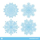 Snowflake vector symbols, christmas snow icons set Royalty Free Stock Photo