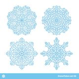 Snowflake vector symbols, christmas snow icons set Royalty Free Stock Photography