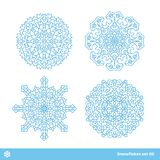 Snowflake vector symbols, christmas snow icons set Royalty Free Stock Image
