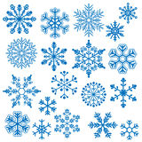 Snowflake Vectors. Detailed Blue Snowflake Vector Collection