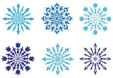 Snowflake Vectors royalty free illustration