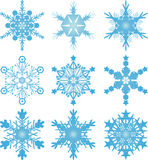 Snowflake vectors Royalty Free Stock Photography