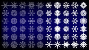 60 Snowflake Vectors for you design Stock Images