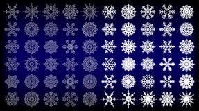 60 Snowflake Vectors for you design. Illustration of 60 Snowflake Vectors for you design Stock Images
