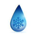 Snowflake waterdrop illustration Royalty Free Stock Photos