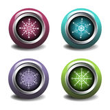 Snowflake web buttons Royalty Free Stock Image