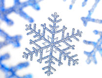 Snowflake. With a white background Stock Photography