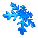Snowflake on white background. Isolated 3D illustration.  Royalty Free Stock Photography