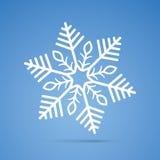 Snowflake. White snowflake on the blue background vector illustration