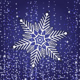 Snowflake from white paper on a color background Stock Images