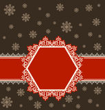 Snowflake winter background. Stock Photos