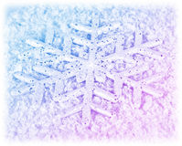 Snowflake winter background Royalty Free Stock Photos
