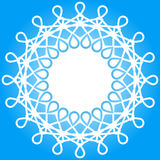 Snowflake winter border frame Royalty Free Stock Photos