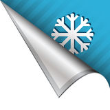 SNowflake or winter corner tab Royalty Free Stock Image