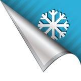 SNowflake or winter corner tab stock illustration