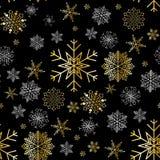 Snowflake winter design season december snow celebration ornament vector illustration seamless pattern background Stock Photos