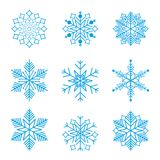 Snowflake winter design season december snow celebration ornament vector illustration. Geometric freeze snowfall decorative nature beautiful christmas holiday Royalty Free Stock Photos