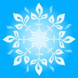Snowflake winter  illustration Royalty Free Stock Images