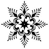 Snowflake winter illustration Stock Images