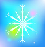Snowflake winter illustration Royalty Free Stock Photography