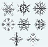 Snowflake winter Stock Image