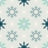 Snowflake winter seamless pattern Stock Image