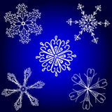 Snowflake winter set Royalty Free Stock Photos