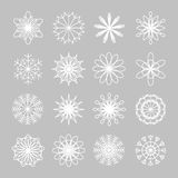 Snowflake winter set Stock Images
